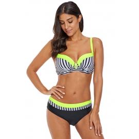 Ženske bikini kopalke z zebrastim vzorcem Black/Yelow