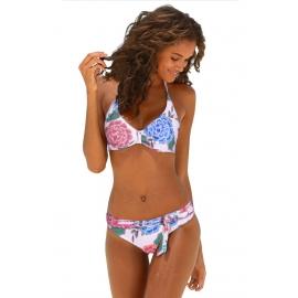 Ženske bikini kopalke s cvetličnim potiskom TAMARA White