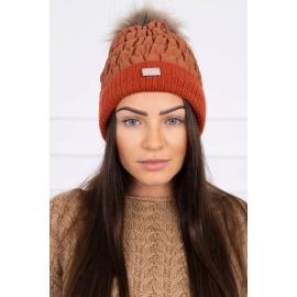 Ženska kapa K160, temno oranžna