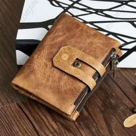 Usnjena denarnica z RFID zaščito