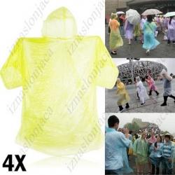 4x dežni plašč