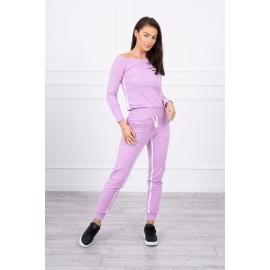 Ženski komplet z dvojno črto 8958, svetlo vijoličast