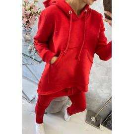 Ženski komplet z baggy hlačami 8944, rdeča