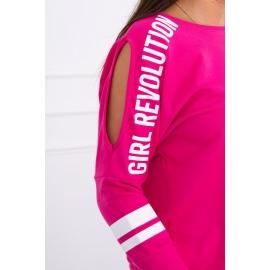 Ženski komplet s ¾ rokavi Girl Revolution