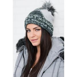 Ženska kapa z vzorcem K159, siva