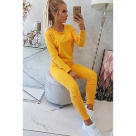 Ženski športni komplet 9090, gorčično rumena