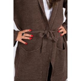 Ženska pletena jopica z žepi